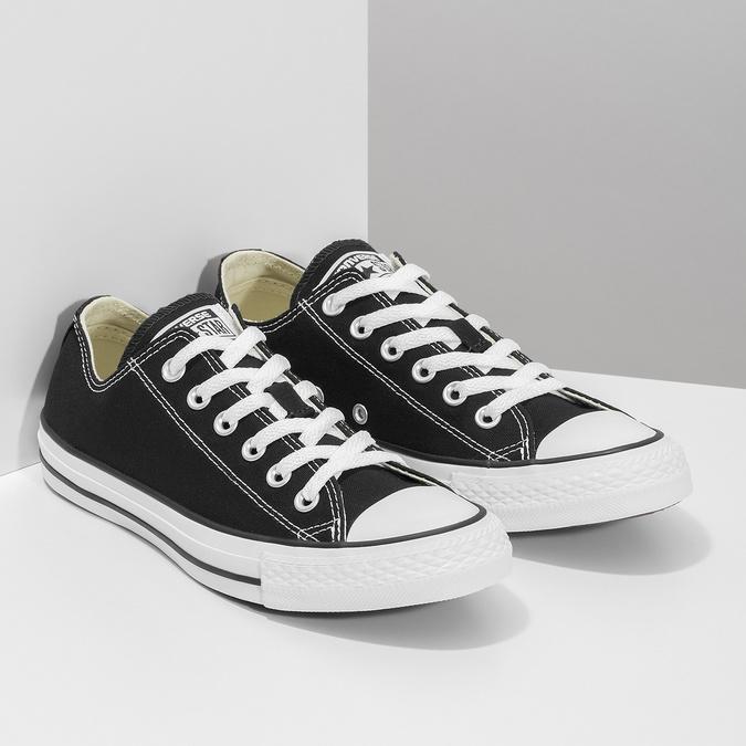 Dámske čierne tenisky s gumovou špičkou converse, čierna, 589-6279 - 26