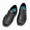 Pánske kožené sandále v elegantnom dizajne pinosos, čierna, 864-6625 - 16