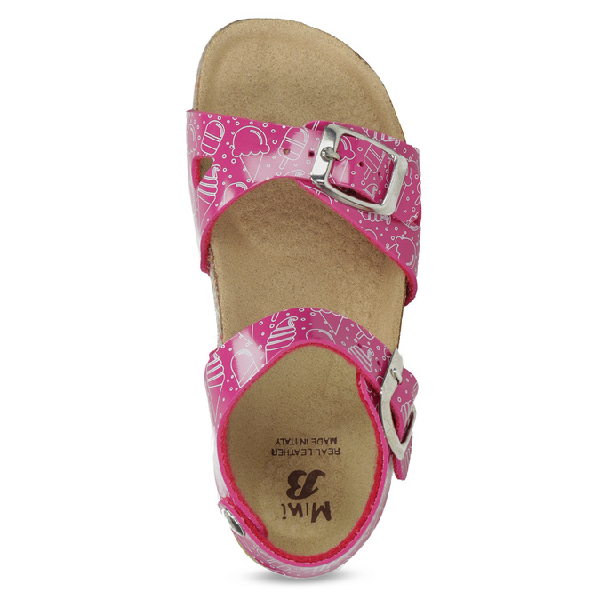 Dievčenské ružové korkové sandále mini-b, ružová, 261-5209 - 17