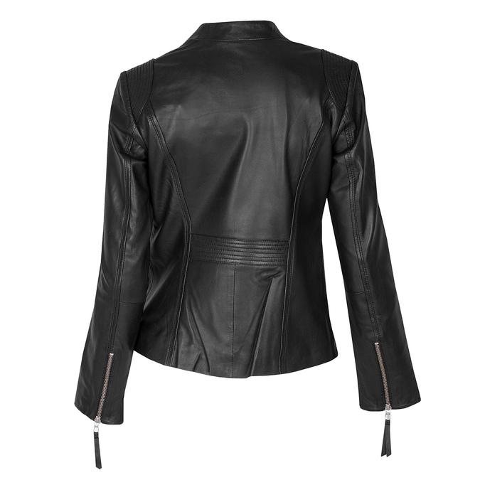 Čierna kožená bunda dámska bata, čierna, 974-6180 - 26