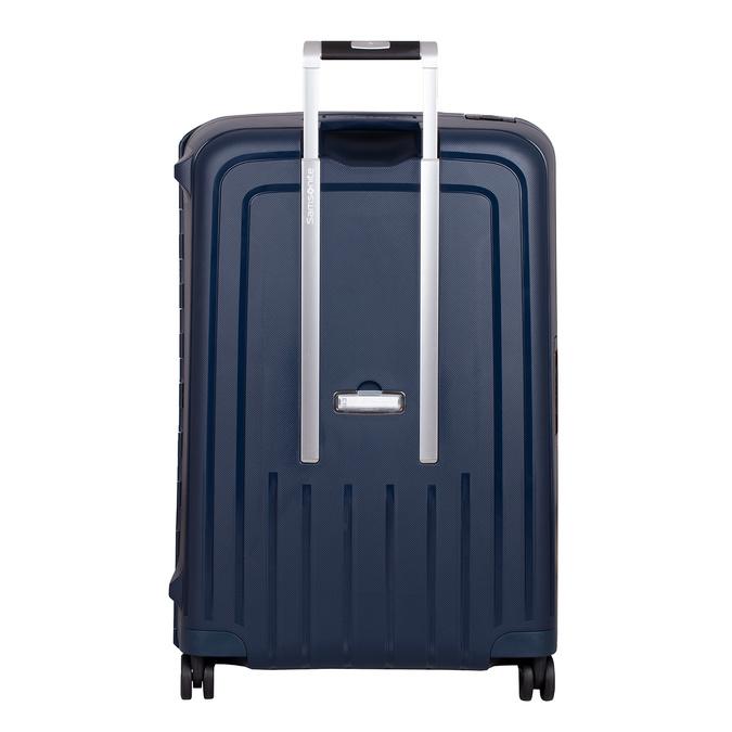 Modrý kufor na kolieskach s pevným obalom samsonite, modrá, 960-9612 - 26