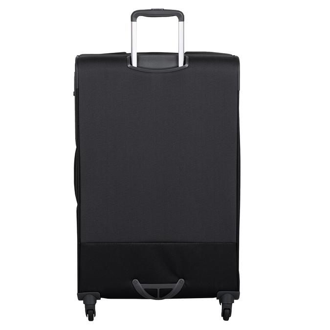 Čierny  textilný kufor na kolieskach samsonite, čierna, 960-6041 - 26