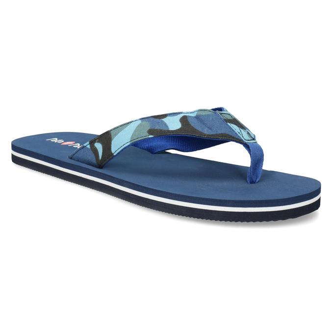 Pánske modré žabky s maskáčovým vzorom pata-pata, modrá, 879-9616 - 13