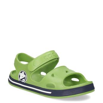 Detské zelené sandále chlapčenské coqui, zelená, 372-7658 - 13