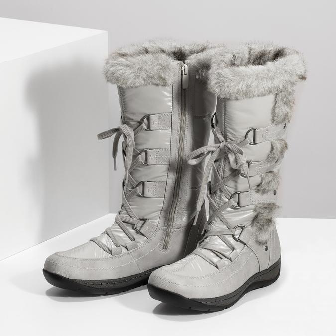 Zimné snehule s kožúškom bata, šedá, 599-8618 - 16