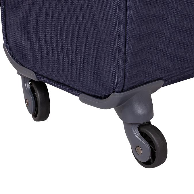 Tmavomodrý väčší textilný kufor na kolieskach samsonite, modrá, 960-9042 - 16