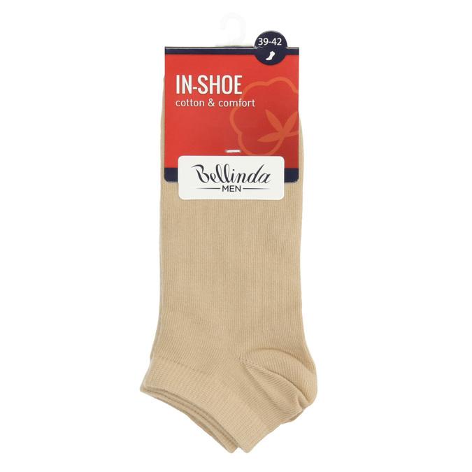 Telové pánske ponožky nízke bellinda, béžová, 919-8817 - 13