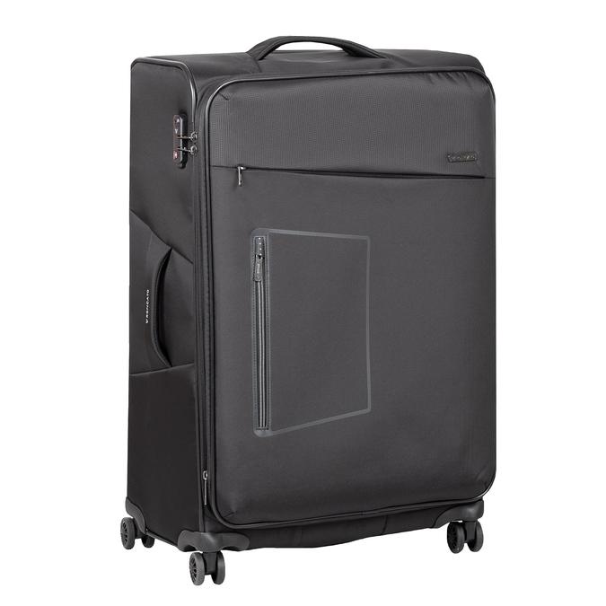 Stredně veľký textilný kufor na kolieskach roncato, čierna, 969-6710 - 13