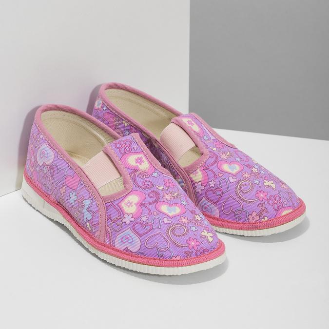 Detské ružové prezuvky so vzorom bata, ružová, 379-5218 - 26