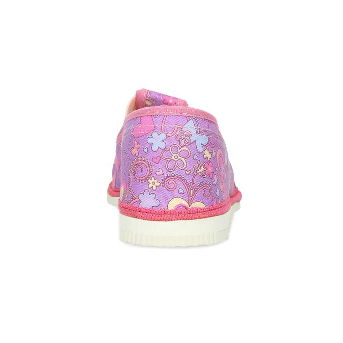Ružové detské prezuvky so vzorom bata, ružová, 279-5129 - 15