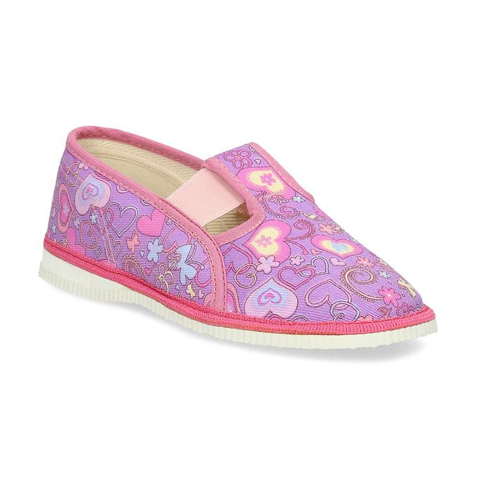 Ružové detské prezuvky so vzorom bata, ružová, 279-5129 - 13