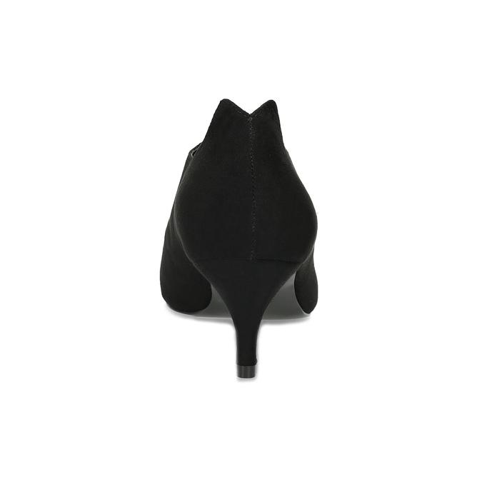 Čierne dámske lodičky s vykrojením insolia, čierna, 629-6648 - 15
