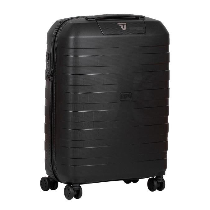 Malý škrupinový kufor na kolieskach roncato, čierna, 960-9728 - 13
