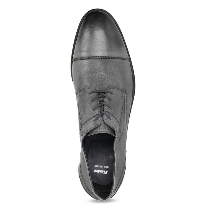 Kožené šedé pánske Derby poltopánky bata, šedá, 826-2782 - 17