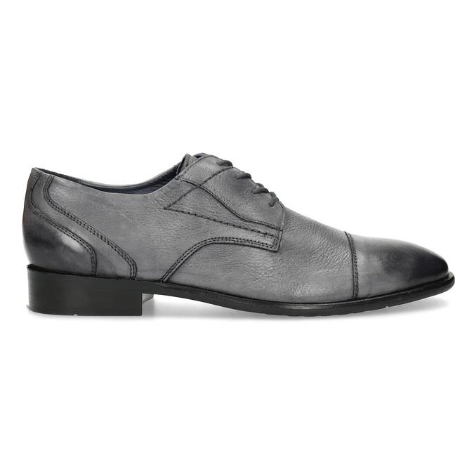 Kožené šedé pánske Derby poltopánky bata, šedá, 826-2782 - 19