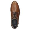 Kožené hnedé pánske poltopánky bata, hnedá, 826-3506 - 17