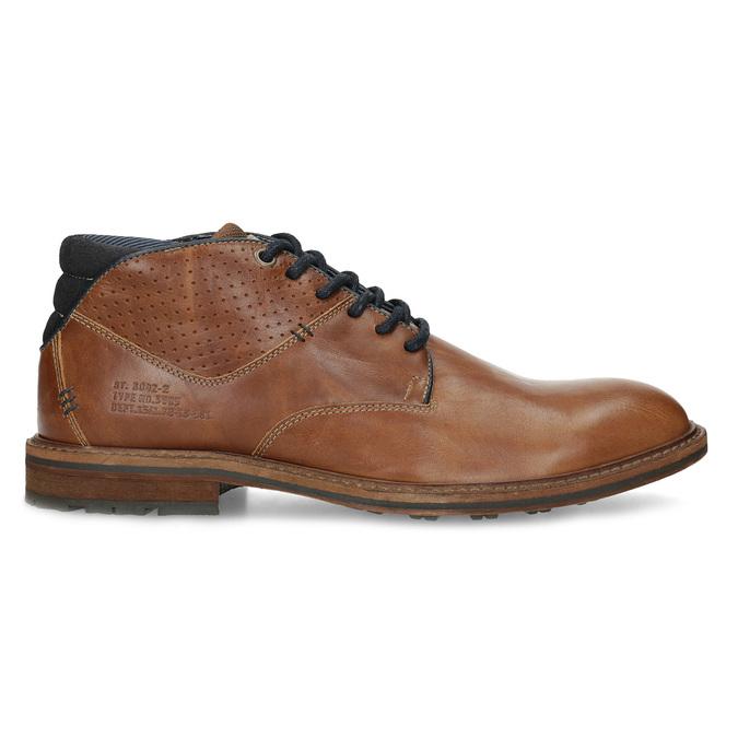 Hnedá členková kožená pánska obuv bata, hnedá, 826-3505 - 19