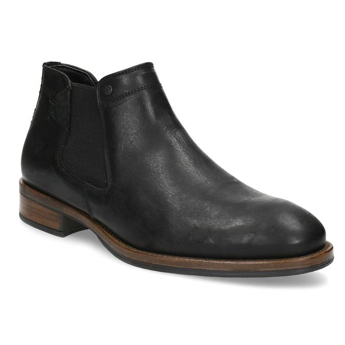 Pánske čierne Chelsea kožené bata, čierna, 826-6504 - 13