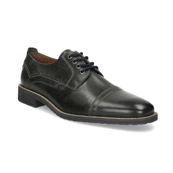 Pánske kožené Derby poltopánky bata, čierna, 826-2866 - 13