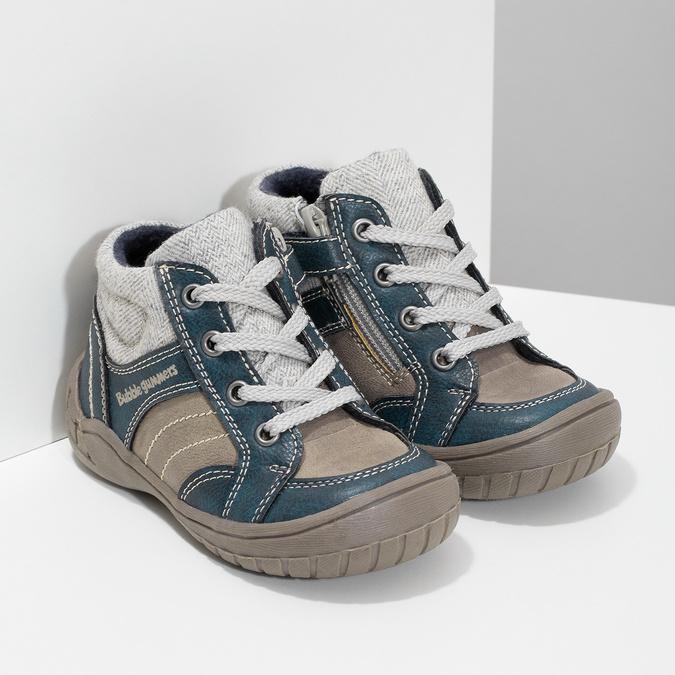 Detská členková obuv s teplou podšívkou bubblegummers, šedá, 111-2627 - 26