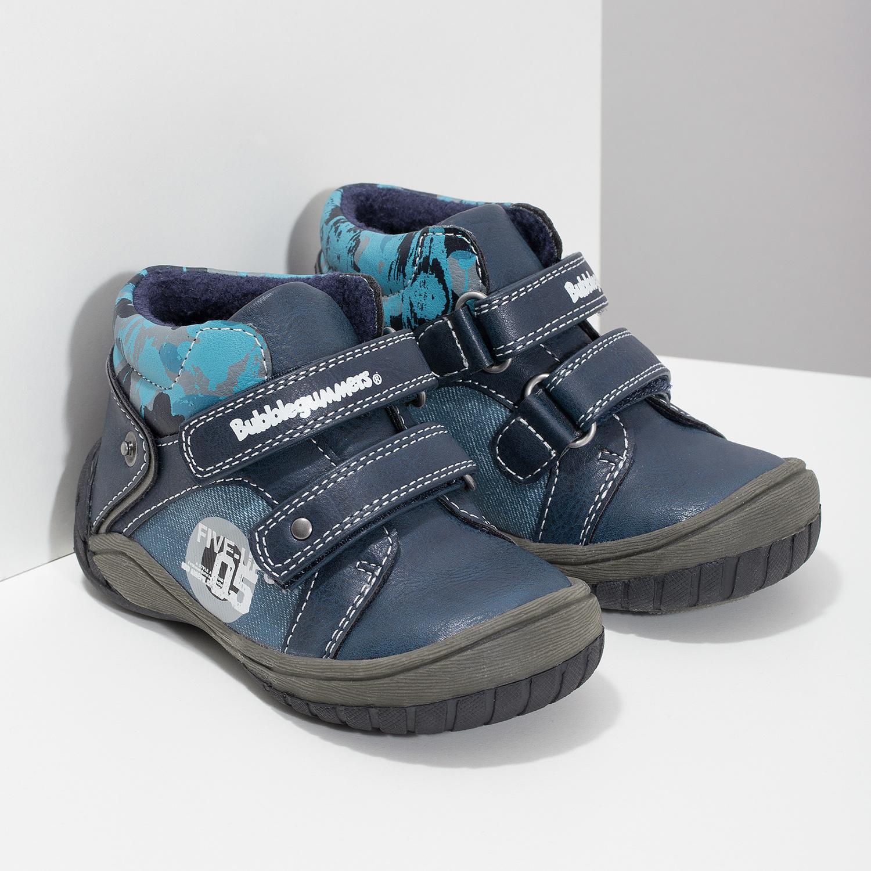 4e16d0e2e4d82 ... Detské modré členkové topánky na suché zipsy bubblegummers, modrá,  111-9628 - 26 ...