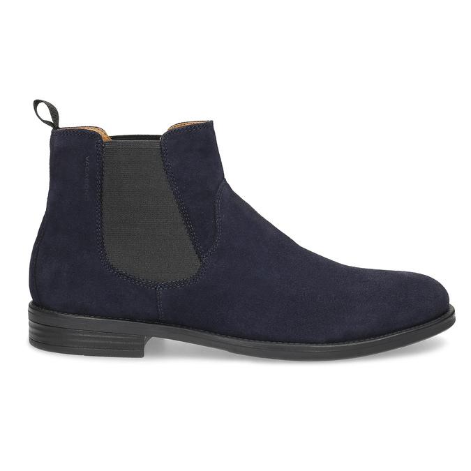 Tmavomodrá kožená pánska Chelsea obuv vagabond, modrá, 813-6153 - 19