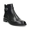Kožená dámska členková obuv s prackou vagabond, čierna, 514-6140 - 13