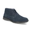 Modrá kožená pánska členková obuv bata, modrá, 843-9640 - 13