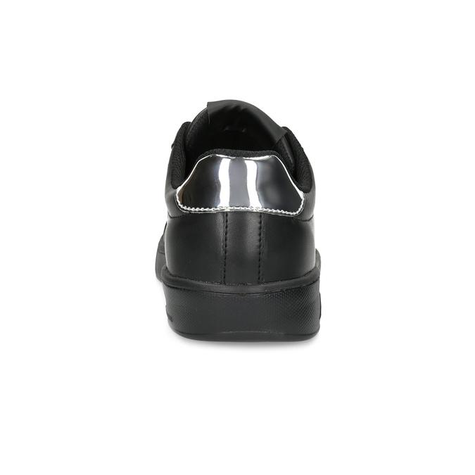 Čierne dámske tenisky so striebornými detailami power, čierna, 501-6168 - 15