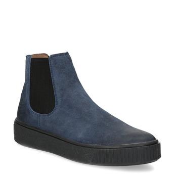 Modrá dámska kožená Chelsea obuv bata, modrá, 596-9713 - 13