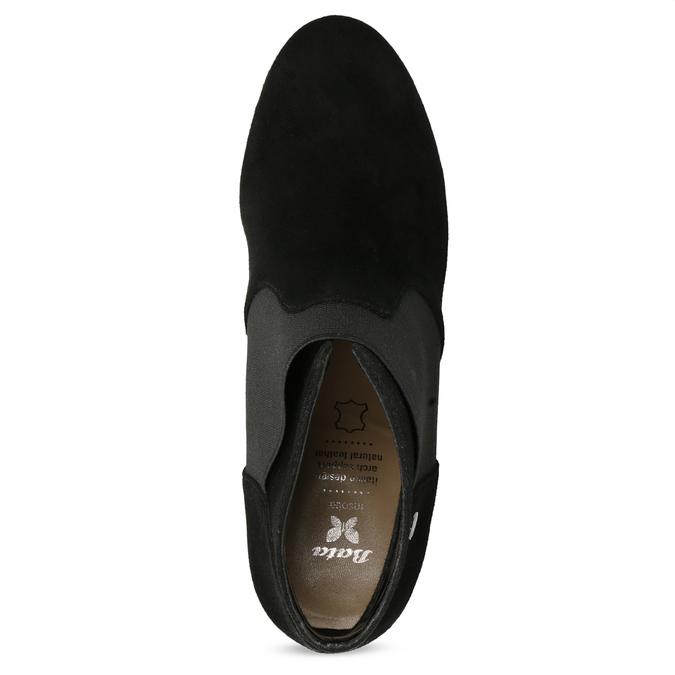 Členkové čierne čižmy na ihličkovom podpätku bata, čierna, 799-6624 - 17