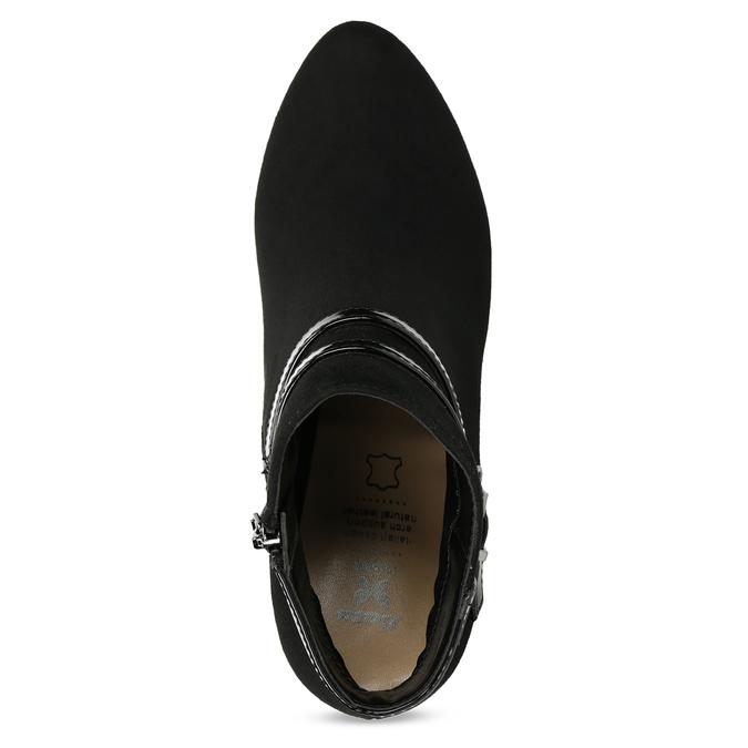 Členkové čižmy na ihličkovom podpätku bata, čierna, 799-6623 - 17