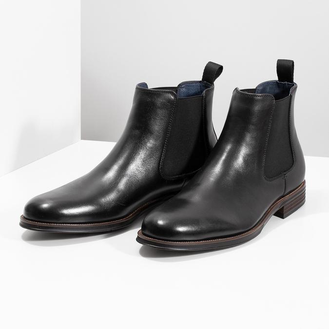 Kožené Chelsea Boots bata, čierna, 894-6400 - 16