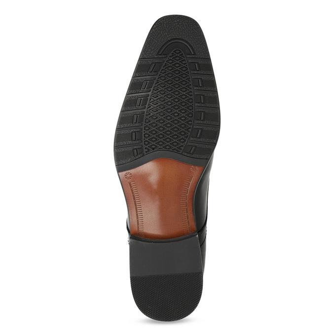 Kožené pánske Derby poltopánky s prešitím bata, čierna, 824-6633 - 18