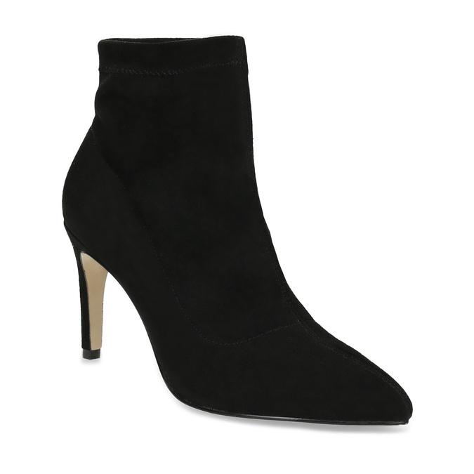 Členkové dámske čižmy na ihličkovom podpätku bata, čierna, 799-6620 - 13