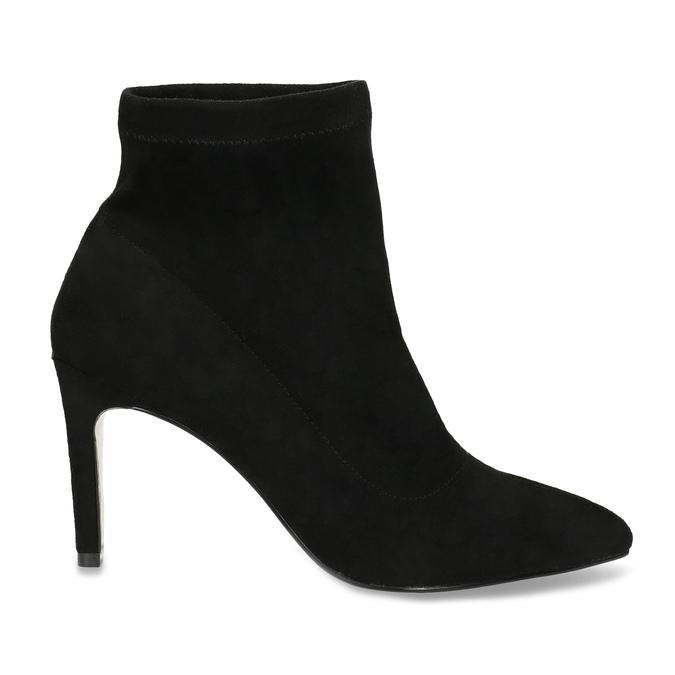 Členkové dámske čižmy na ihličkovom podpätku bata, čierna, 799-6620 - 19