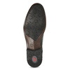 Čierne kožené derby poltopánky bugatti, čierna, 824-6088 - 18