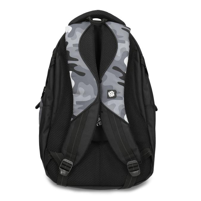 Maskáčový šedý školský batoh bagmaster, šedá, 969-2718 - 16