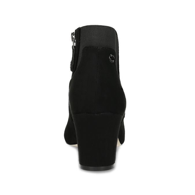 Dámska čierna členková obuv na podpätku bata, čierna, 799-6625 - 15