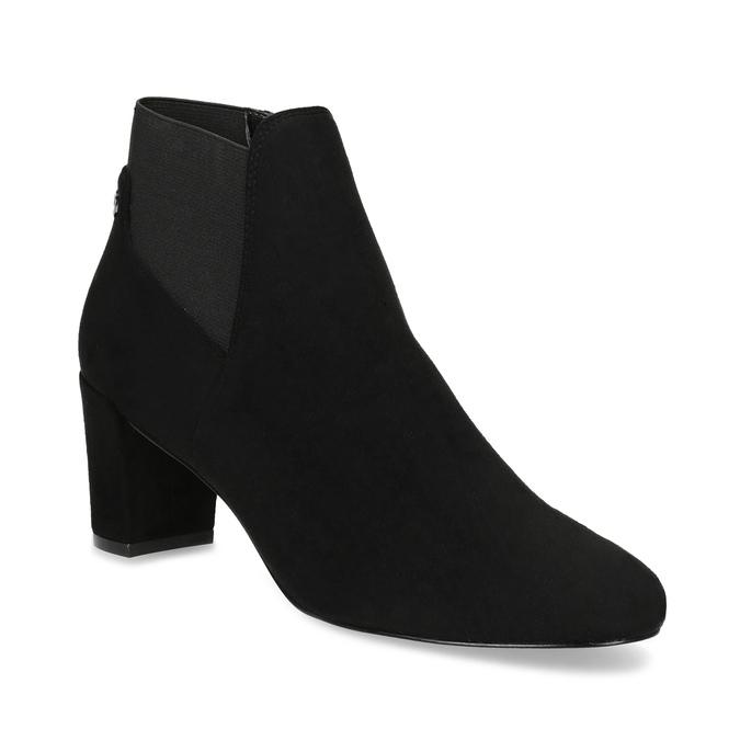 Dámska čierna členková obuv na podpätku bata, čierna, 799-6625 - 13