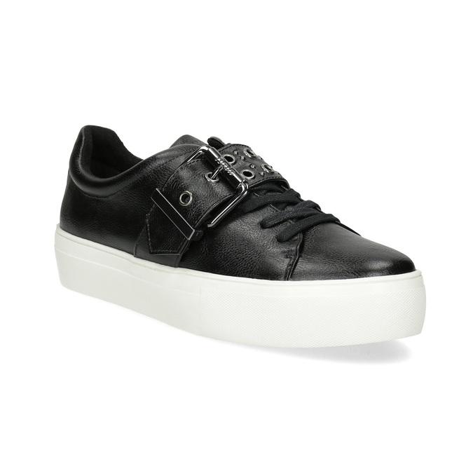 Čierne dámske tenisky s prackou bata-light, čierna, 541-6604 - 13