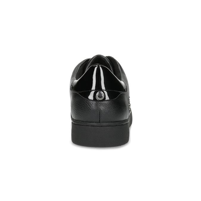 Čierne dámske tenisky s kamienkami bata-light, čierna, 549-6611 - 15