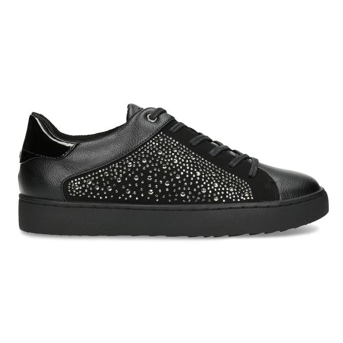Čierne dámske tenisky s kamienkami bata-light, čierna, 549-6611 - 19