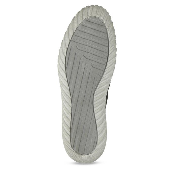 Členkové kožené tenisky s prešitím weinbrenner, šedá, 846-6720 - 18