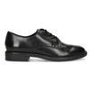 Čierne dámske kožené poltopánky bata, čierna, 524-6666 - 19