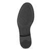 Čierne dámske kožené poltopánky bata, čierna, 524-6666 - 18