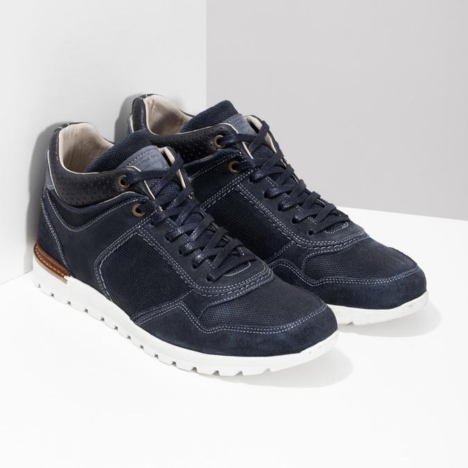 Tmavomodré kožené tenisky bata, modrá, 846-9717 - 26