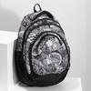 Čierno-biely školský batoh bagmaster, šedá, 969-2719 - 17