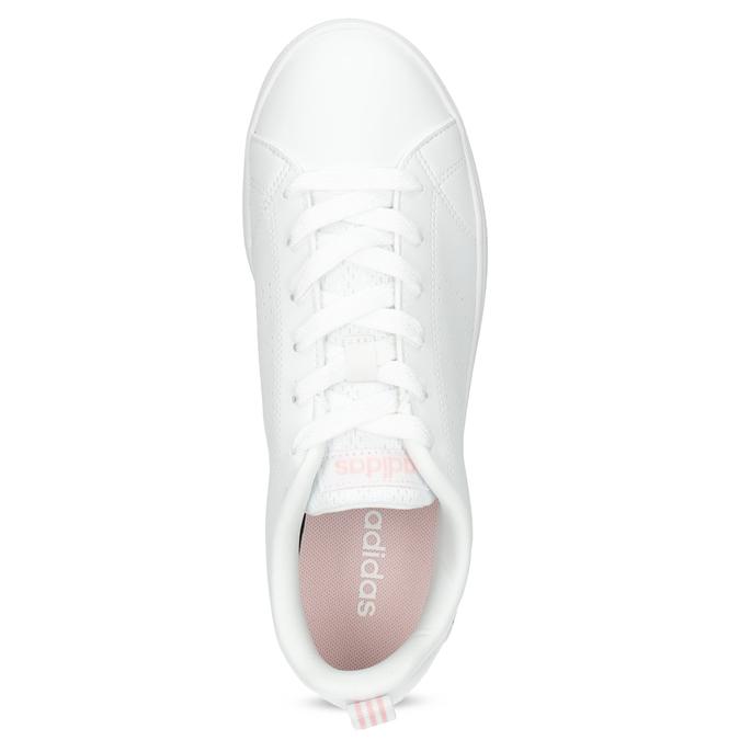 Biele dámske tenisky s perforáciou adidas, biela, 501-1800 - 17