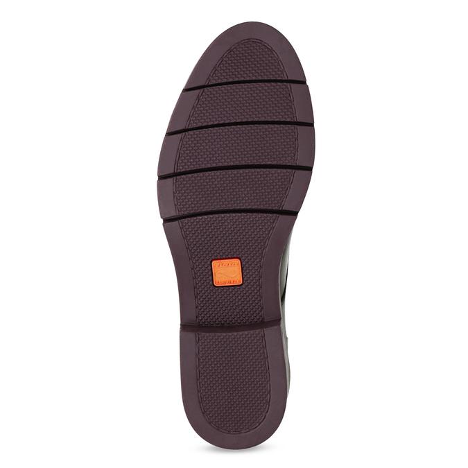 Kožená členková obuv so strapcami flexible, červená, 596-5696 - 18